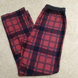 Calvin Klein red plaid size 16-18 Pajama Bottoms